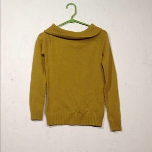 Zara | mustard cowl neck sweater medium